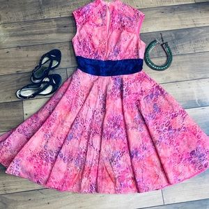 Beautiful pink summer dress with cap sleeves
